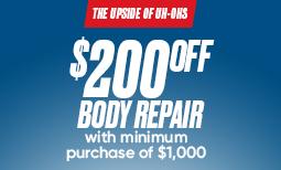 Fall Promo: $200 Off Body Repair Coupon