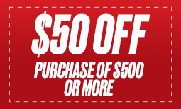 $50 off Purchase of $500 or More Coupon