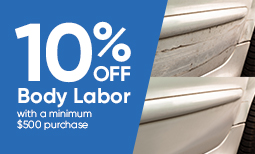 Tax Season Promo: 10% Off Body Labor Coupon